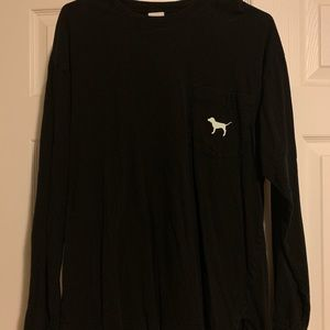 Victoria's Secret Pink Long Sleeve Campus Tee